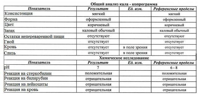 Анализ кала на копрограмму: что показывает, расшифровка